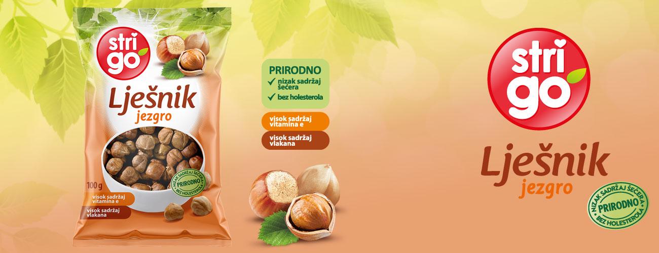 Strigo, prirodno i zdravo, pistacije. lješnjak, badem,student mix